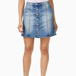 CALVIN KLEIN | DENIM BUTTON DOWN MINI SKIRT
